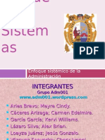 Teoria de Sistemas diapositivas