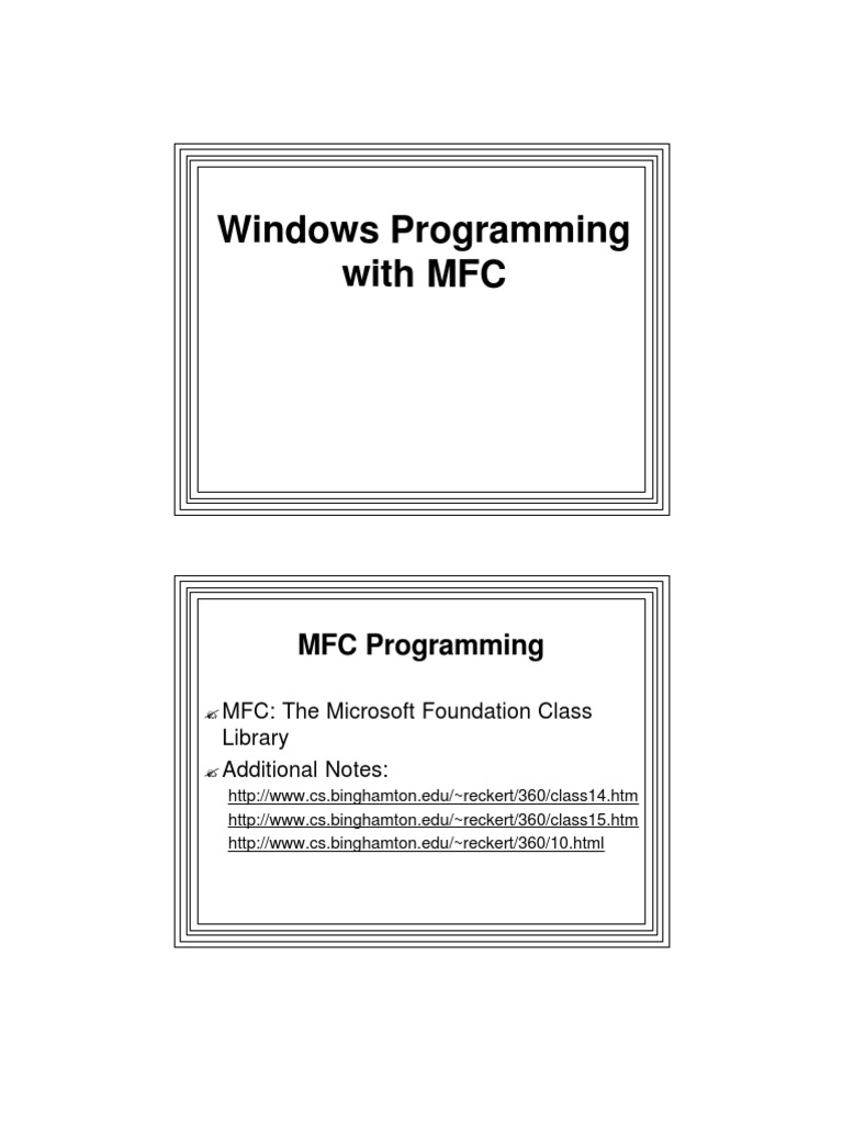 lect2_2009-1-API-MFC | Class (Computer Programming) | Inheritance