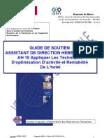 AH10 Appliquer les techniques d'optimisation d'activité et rentabilité de de l'hotel experimentale 04-08-08