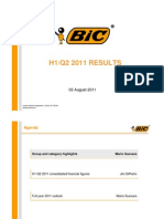 BIC H1-Q22011Results Presentation Aug 20111