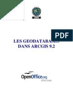 Les GeoDatabases Dans ArcGIS