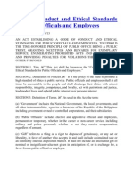 Code of Conduct and Ethical Standards for Public Officials and Employees