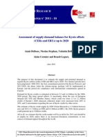 11-06 Cdc Climat r Wp11-10 Equilibrium Supply-Demand Cer and Eru by 2020