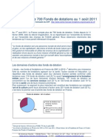 Les fondations et fonds de dotation en 2011