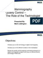 Digital Mammo QC for Technologists 2007