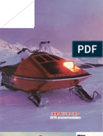 1976 Rupp Snowmobile Line-up Brochure
