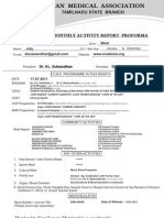 IMA Monthly Report Form July