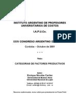 Cartier-Categoria de Factores Productivos