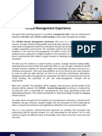 Virtual Management Experience - IBS Institute Students