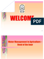 Agricultural Water Management-Brief