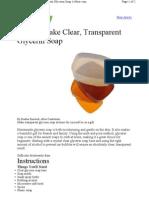 Make Clear Transparent Glycerin Soap