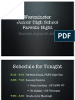 JHS Parents Night Mtg 8-25-11 BA