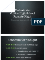 JHS Parents Night Mtg 8-25-11 BA