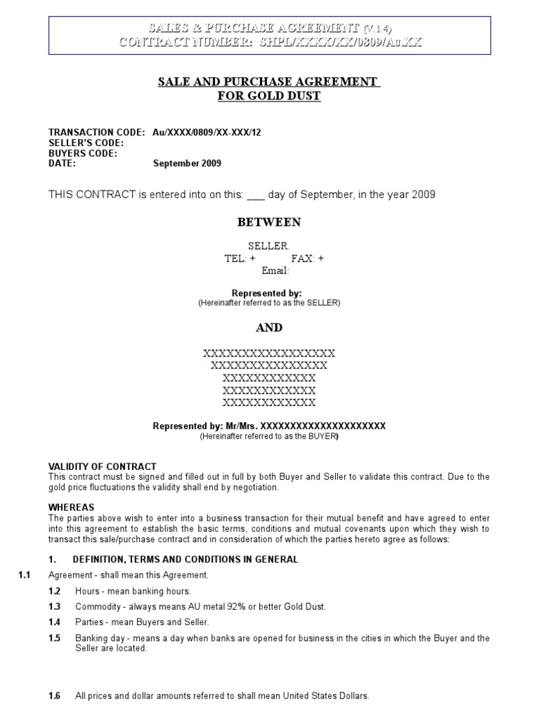 Sale And Purchase Agreement Sanitized Letter Of Credit Financial