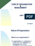 Unit 1 - Nature of Organization & Management
