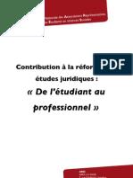 Contribution de l'ARES sur la réforme Etudes Juridiques