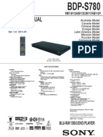Sony BDP-S780 Blu-ray Player Service Manual