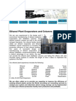 Ethanol Plant Evaporators and Columns