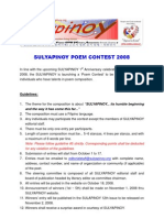 Sulyapinoy Poem Contest Guidelines