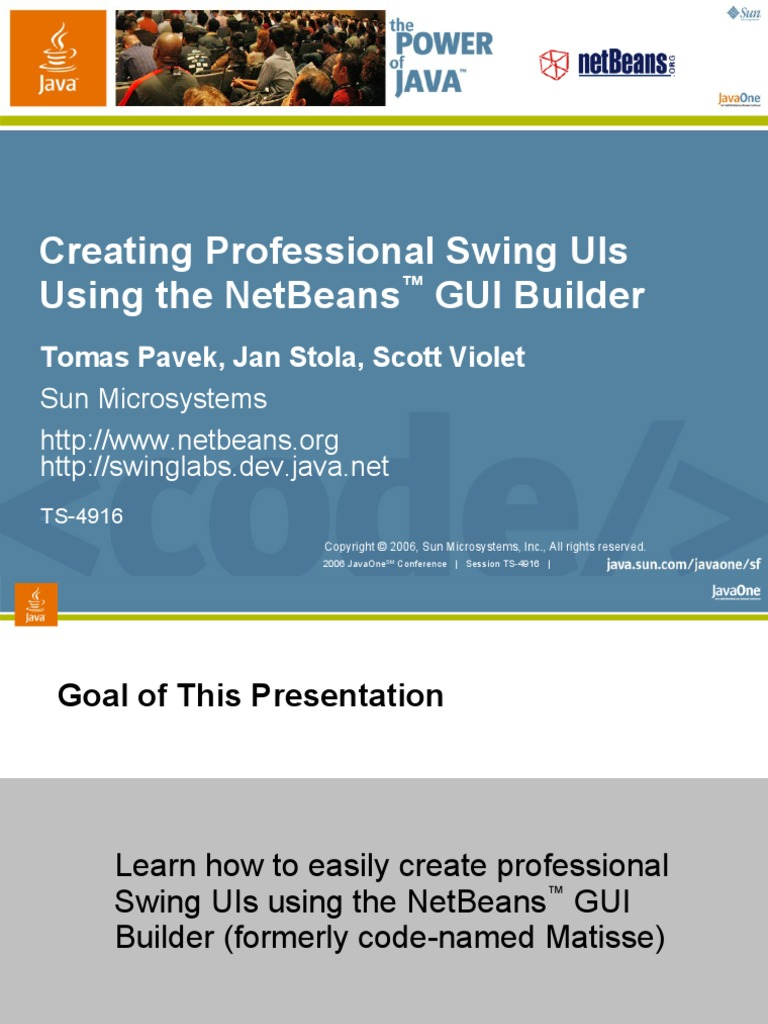 java gui | Net Beans | Cross Platform
