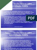 Tema 1 - Organização Administrativa do Estado