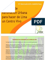 Renovacion Urbana en El Centrode Lima