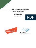 Gasto Publicidad Oficial en México 2005-2011