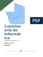 Hecht Milagros 2°A CUESTIONARIO DE INFORMÁTICA 1