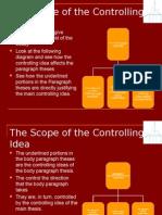 Unit 5- The Scope of the Controlling Idea