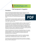 Radionics and Self Development in Suggestive Promotions