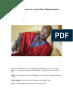 Au 20ème jour de la grève de la faim. Jimmy Mapango reprécise ses motivations