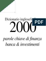 Dizionario Di Finanza, Banca e Investimenti Inglese- Italiano