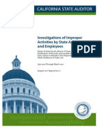 Investigations of Improper Activities by State Agencies and Employees