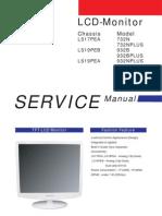 Samsung TFT-LCD Monitor Sync Master 732N, 732N Plus, 932B, 932B Plus, 932N Chassis LS17PEA LS19PEA LS19PEB