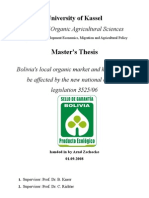 Bolivia's local organic market and how it might be affected by the new national organic legislation 3525/06