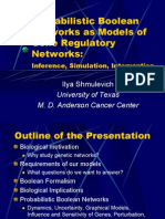 Probabilistic Boolean Networks