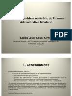 Dr. Carlos Cintra - Amplitude da defesa no âmbito do PAT