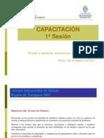 TORNEO INTERESCOLAR DE DEBATES - Capacitación Basica - Tarapaca 2011