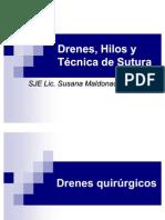 drenes y suturas
