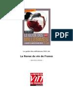 Guide Revue Des Vins de France 2011