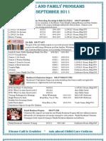 September 2011 Calendar of Events