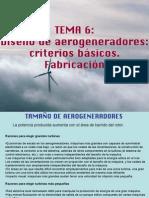 2.- DISEÑO DE AEROGENERADORES CRITERIOS BÁSICOS FABRICACION