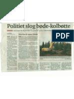 Politiet slog bødekolbøtte, Andreas Bjerre, Nordjyske, 05.08.2011
