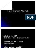 Guia Rapida MySQL