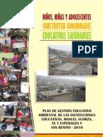 Plan de gestión educativa ambiental de tres colegios de Lomas de Carabayllo