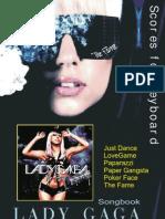 (Sheet Music - Piano) - Lady Gaga - Just Dance Easy Keyboard