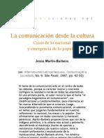 La comunicación desde la cultura