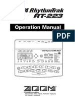 Zoom RT223 Drum Machine User Manual
