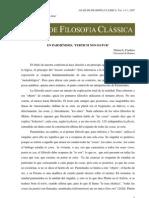 En parmenides, 'tertium non datur'-- Nestor Luis Cordero