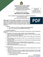 Seleção Bolsista de Extensão | Agosto 2011.2